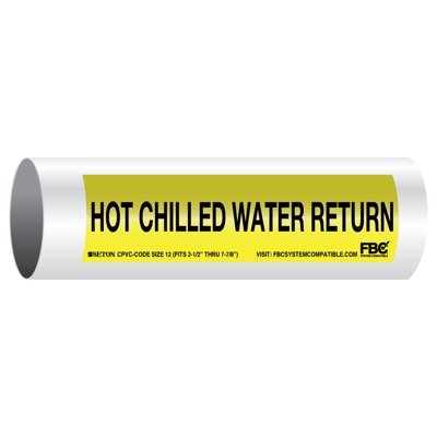CPVC-Code™ Pipe Markers - Hot Chilled Water Return