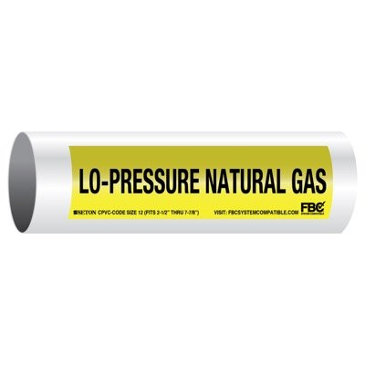 CPVC-Code™ Pipe Markers - Lo-Pressure Natural Gas