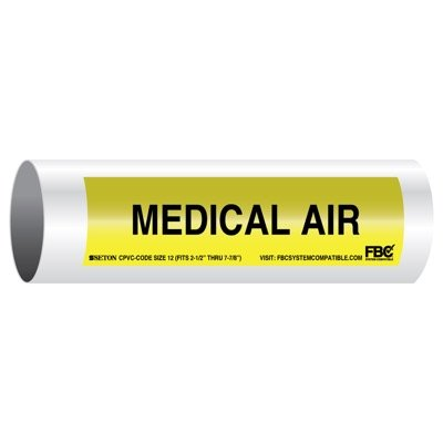 CPVC-Code™ Pipe Markers - Medical Air