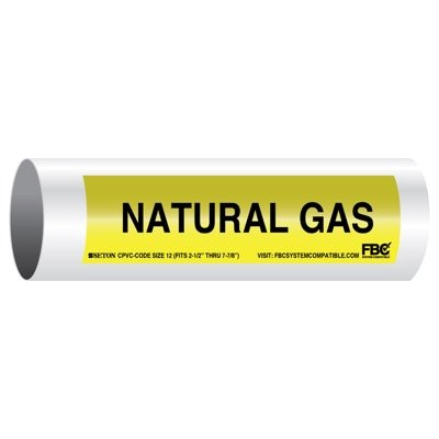 CPVC-Code™ Pipe Markers - Natural Gas