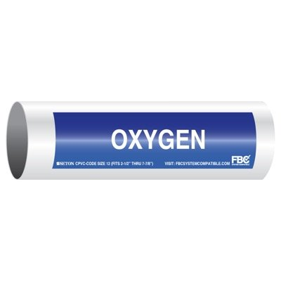 CPVC-Code™ Pipe Markers - Oxygen