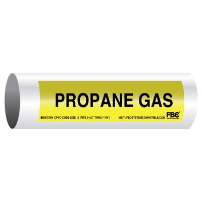CPVC-Code™ Pipe Markers - Propane Gas