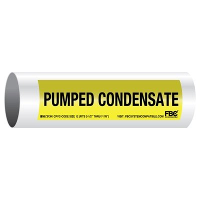 CPVC-Code™ Pipe Markers - Pumped Condensate