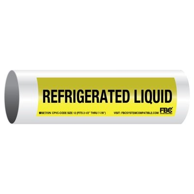 CPVC-Code™ Pipe Markers - Refrigerated Liquid