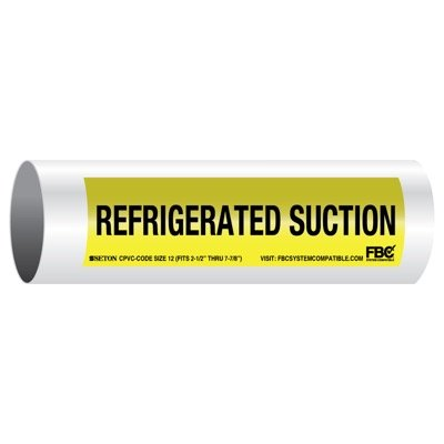 CPVC-Code™ Pipe Markers - Refrigerated Suction