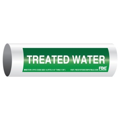 CPVC-Code™ Pipe Markers - Treated Water