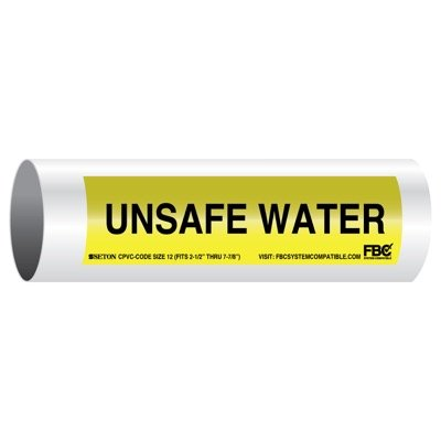 CPVC-Code™ Pipe Markers - Unsafe Water