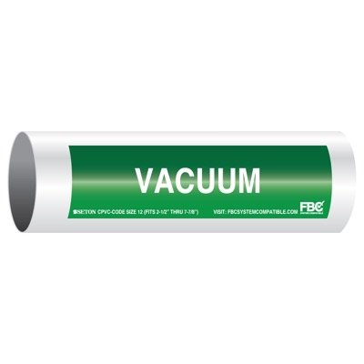 CPVC-Code™ Pipe Markers - Vacuum