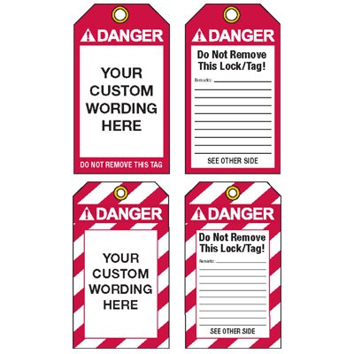 Custom ANSI Lockout Tags