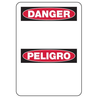 Danger Blank Write-On - Bilingual Custom Write-On Signs
