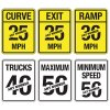 Semi-Custom Reflective Speed Limit Signs
