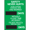 Semi-Custom Safety Scoreboards