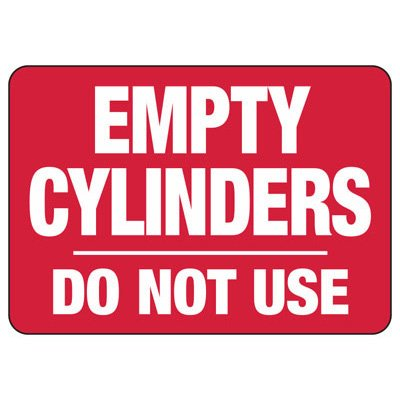 Cylinder Status Signs - Empty Cylinders Do Not Use