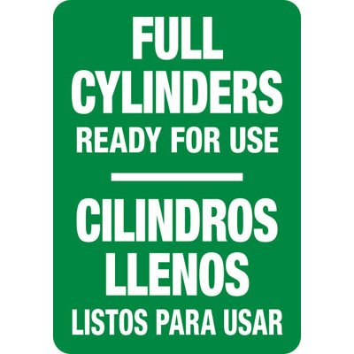 Bilingual Full Cylinders - Industrial Cylinder Sign