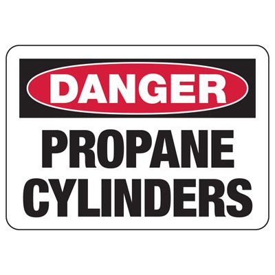 Danger Propane Cylinders - Industrial Cylinder Sign