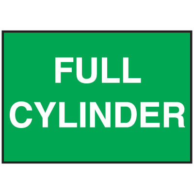 Cylinder Status Signs - Full Cylinder