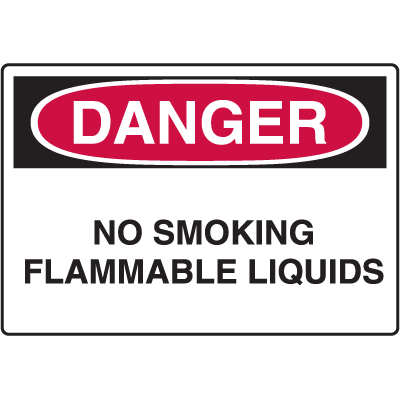 Danger Signs - No Smoking Flammable Liquids