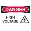 Danger High Voltage Sign w/Symbol
