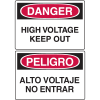 Danger Signs - High Voltage Keep Out