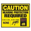 Decibel Meter Signs - Hearing Protection (Earplugs Symbol)