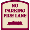 Designer Property Signs - No Parking Fire Lane