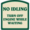 Designer Property Signs - No Idling