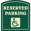 Designer Property Signs - Reserved Parking (for PWDs)