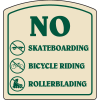 Designer Property Signs - No Skateboarding