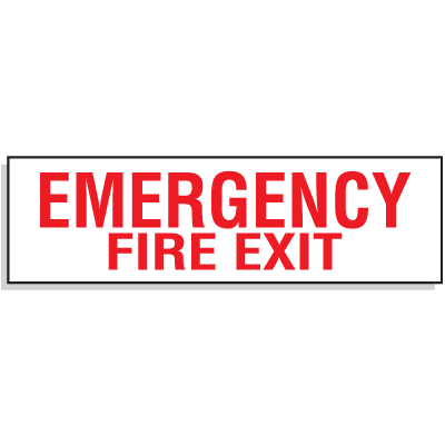 Emergency Fire Exit Directional Signs