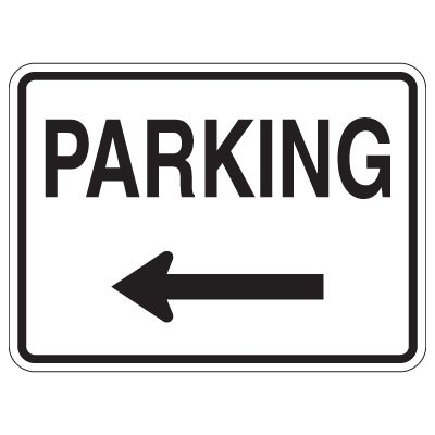 Directional Traffic Signs - Parking (Left Arrow)