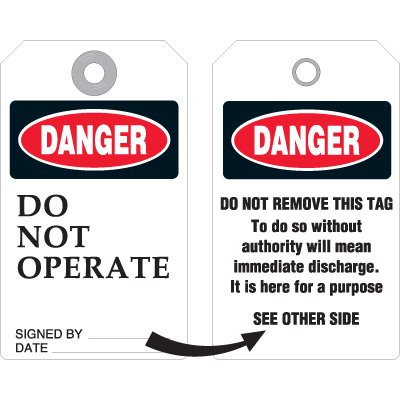 Do Not Operate - Accident Prevention Ultra Tag