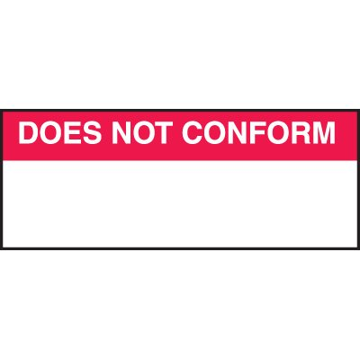 Does Not Confrom Labels