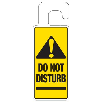 Door Knob Hangers - Do Not Disturb With Graphic