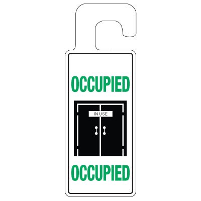 Door Knob Hangers - Occupied With Graphic