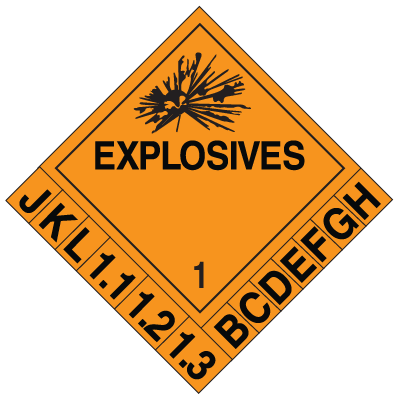 1 DOT Explosive Placard Systems
