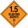 DOT Division 1.5 Explosives Placards