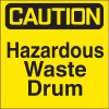 Drum Identification Labels - Hazardous Waste Drum
