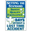 Dry Erase Safety Tracker Signs - Setting The Standard __ Days Without A Lost Time Accident