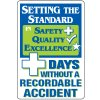 Dry Erase Safety Tracker Signs - Setting The Standard __ Days Without A Recordable Accident