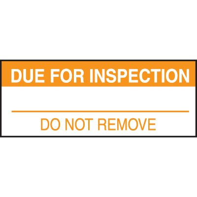 Due For Inspection Status Label