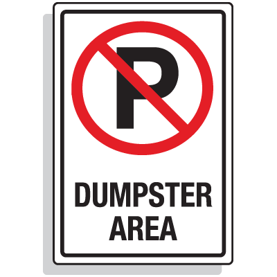Dumpster Signs- Dumpster Area (Graphic)