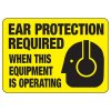 Machine Safety Signs - Ear Protection Required When This Equipment Is Operating
