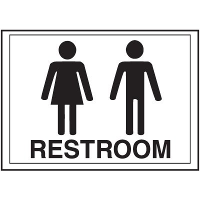 Economy Front Office Signs - Rest Room