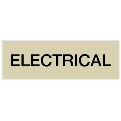 Electrical - Engraved Standard Worded Signs