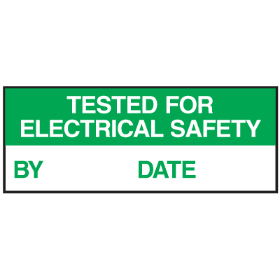 Electrical Safety Write-On Labels- Tested For Electrical Safety