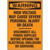 Electrical Warning Labels - Warning High Voltage