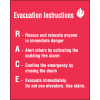 RACE Evacuation Instructions Emergency Signs