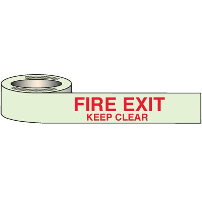 Glow In The Dark Fire Exit Tape