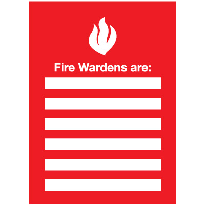 Fire Wardens Emergency Frame