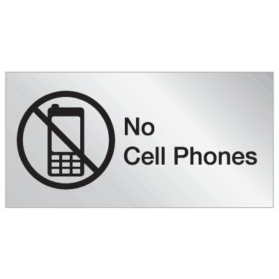 Engraved No Cell Phone Signs - No Cell Phones